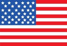 Vector de la bandera americana ilustración del vector