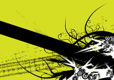 Vector de la bandera de Grunge Imagenes de archivo