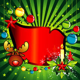 Vector de la bandera de la Navidad