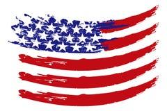 Vector de la bandera de los E.E.U.U. Fotografía de archivo