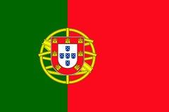 Vector de la bandera de Portugal stock de ilustración