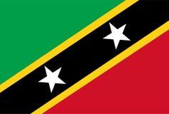 Vector de la bandera del santo San Cristobal y de Nevis Ejemplo del santo San Cristobal libre illustration