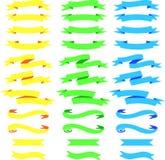 Vector de la bandera de la etiqueta de la etiqueta de la cinta ilustración del vector