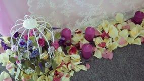 Vector de la boda adornado metrajes