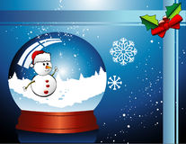 Vector de la bola de cristal de la Navidad libre illustration