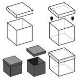 Vector de la caja Imagen de archivo libre de regalías