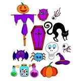 Vector de la calabaza de octubre del sombrero del horror del fantasma de Halloween stock de ilustración