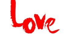 Vector de la caligrafía de la tinta del amor Frase para el día del ` s de la tarjeta del día de San Valentín Fotos de archivo