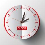 Vector de la cara de reloj del corte del papel Fotografía de archivo libre de regalías