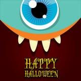 Vector de la cara del monstruo Tarjeta de felicitación de Halloween Fotografía de archivo