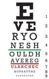 Vector de la carta de ojo Imagenes de archivo