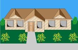Vector de la casa del ladrillo Fotografía de archivo