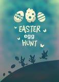 Vector de la caza del huevo de Pascua ilustración del vector