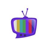 Vector de la charla de la burbuja del discurso de la TV Imagen de archivo libre de regalías