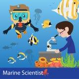 Vector de la ciencia marina Fotos de archivo