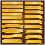 Vector de la cinta y de la bandera del oro Fotografía de archivo libre de regalías