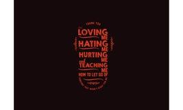 Vector de la cita de la tipografía del amor Imagenes de archivo