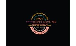 Vector de la cita de la tipografía del amor Foto de archivo