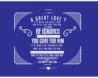 Vector de la cita de la tipografía del amor Imagen de archivo libre de regalías