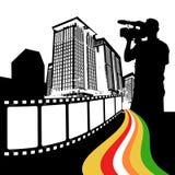 Vector de la ciudad de la película Imagenes de archivo