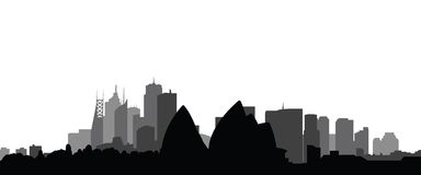 Vector de la ciudad de Sydney del horizonte Fotografía de archivo