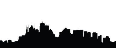 Vector de la ciudad de Sydney del horizonte Fotografía de archivo libre de regalías