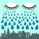 Vector de la ciudad y del ojo libre illustration
