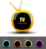 Vector de la colección de la TV Fotos de archivo libres de regalías