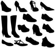 Vector de la colección de los zapatos Fotografía de archivo libre de regalías