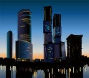 Vector de la construcción del rascacielos Imágenes de archivo libres de regalías