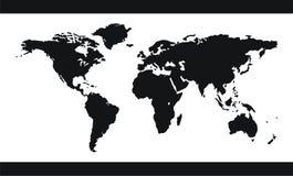 Vector de la correspondencia de mundo Fotos de archivo libres de regalías