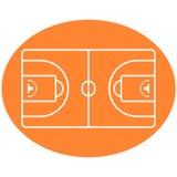 Vector de la corte de la bola del baloncesto fotografía de archivo