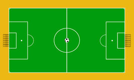 Vector de la corte del fútbol stock de ilustración