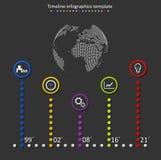 Vector de la cronología de Infographic Foto de archivo libre de regalías