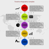 Vector de la cronología de Infographic Fotos de archivo