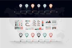 Vector de la cronología infographic Correspondencia de mundo libre illustration