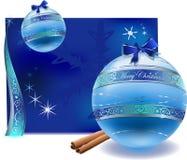 Vector de la decoración de las bolas de los glas de la Navidad Fotos de archivo
