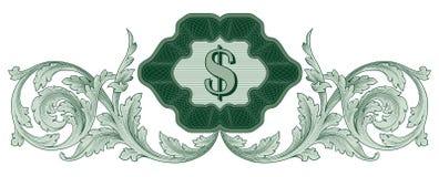 Vector de la decoración del dólar stock de ilustración
