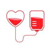 Vector de la donación de sangre Fotografía de archivo libre de regalías