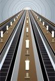Vector de la escalera móvil del metro Foto de archivo libre de regalías