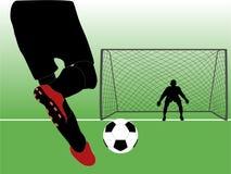 Vector de la escena del fútbol Imágenes de archivo libres de regalías