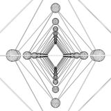 Vector de la estructura de la molécula de la DNA del octaedro Imágenes de archivo libres de regalías