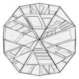 Vector de la estructura de la papiroflexia Fotografía de archivo