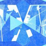 Vector de la estructura de la red de alambre del mosaico Foto de archivo libre de regalías