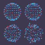 Vector de la estructura molecular Atom Abstract Object Diseño geométrico de la forma Rejilla de la molécula Ilustración libre illustration