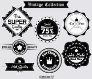 Vector 003 de la etiqueta del vintage Imagenes de archivo