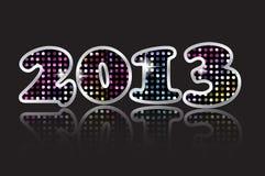 Vector de la Feliz Año Nuevo 2013 Imágenes de archivo libres de regalías