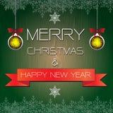 Vector de la Feliz Navidad y de la Feliz Año Nuevo Fotos de archivo libres de regalías