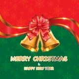 Vector de la Feliz Navidad y de la Feliz Año Nuevo Imagen de archivo