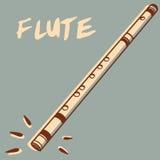 Vector de la flauta Imagen de archivo